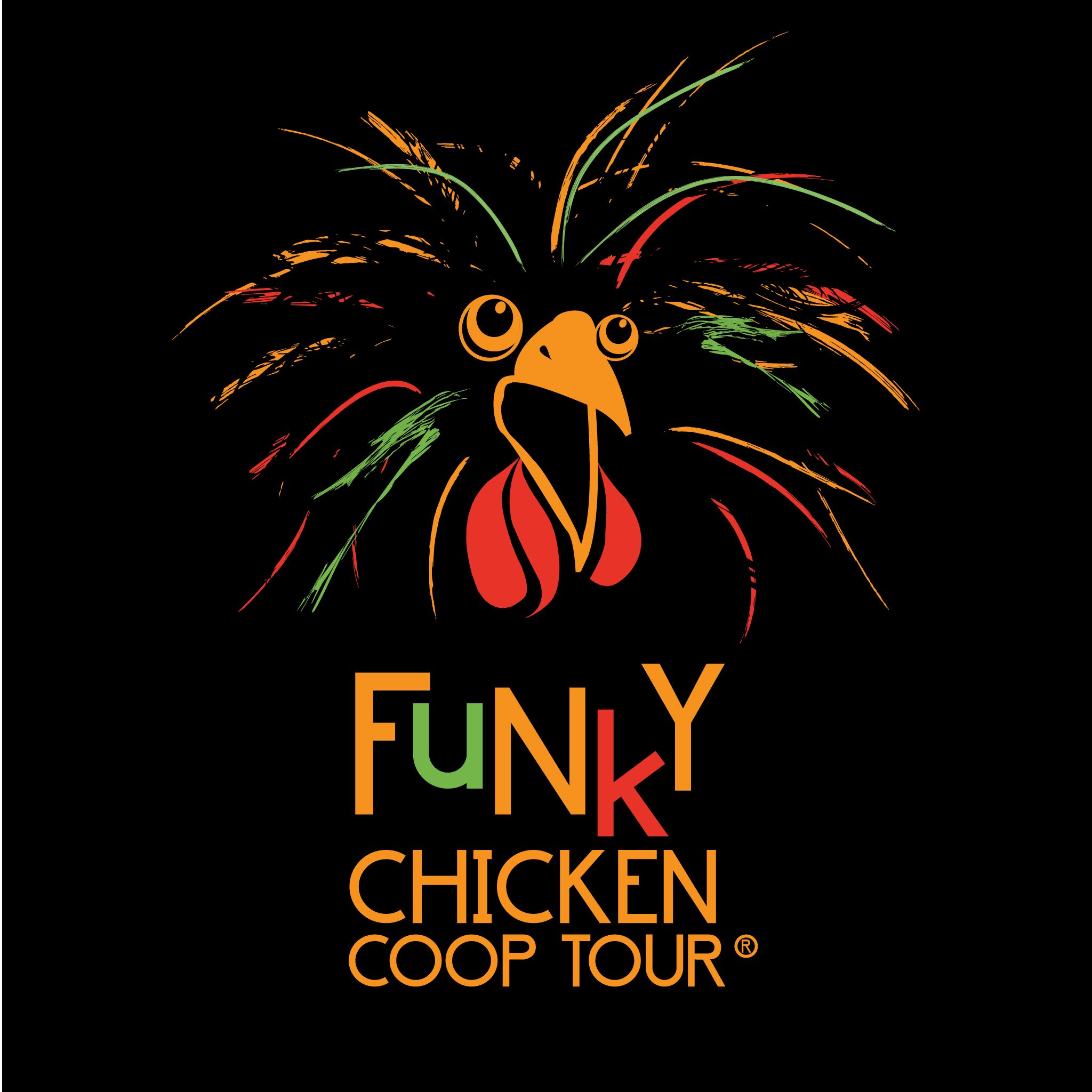 Funky Chicken Coop Tour  Map